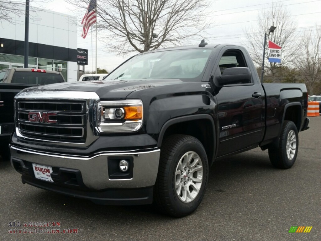 2015 gmc sierra 1500 sle regular cab 4x4 in onyx black 258663 all american automobiles buy. Black Bedroom Furniture Sets. Home Design Ideas
