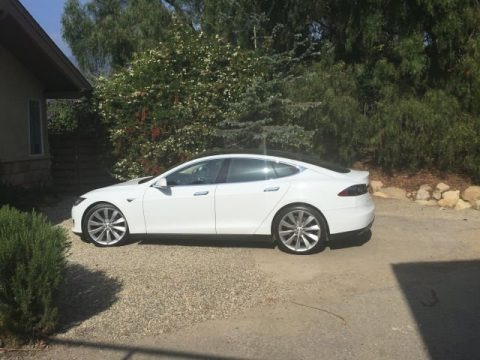 White 2013 Tesla Model S P85 Performance