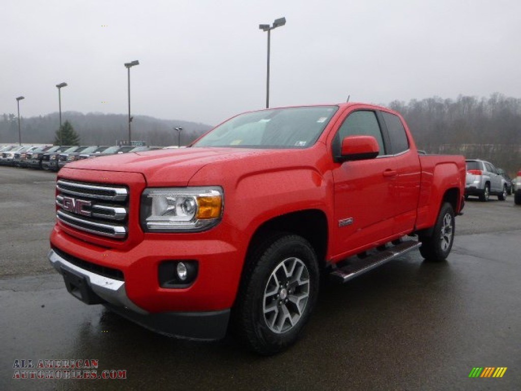 2015 gmc canyon sle extended cab 4x4 in cardinal red 150751 all american automobiles buy. Black Bedroom Furniture Sets. Home Design Ideas