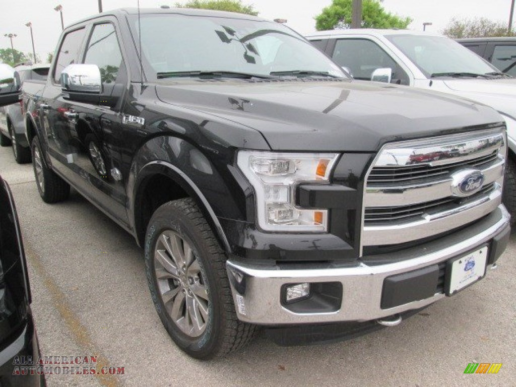 2015 ford f150 king ranch supercrew 4x4 in tuxedo black metallic a28282 all american. Black Bedroom Furniture Sets. Home Design Ideas