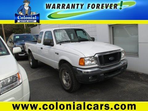 Oxford White 2005 Ford Ranger XLT SuperCab 4x4