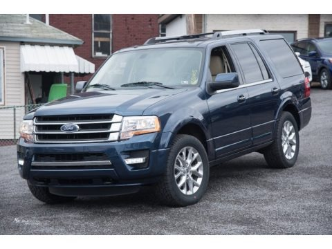 Blue Jeans Metallic 2015 Ford Expedition Limited 4x4