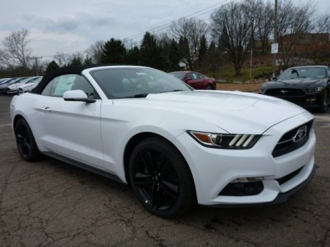 2015 Mustang Ecoboost Premium Convertible Oxford White Ebony Photo | 2017 - 2018 Best Cars Reviews