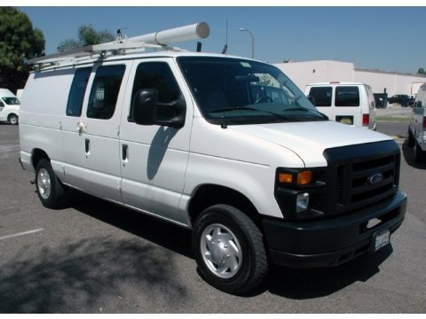 Oxford White 2008 Ford E Series Van E150 Cargo