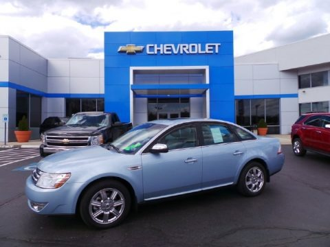 Light Ice Blue Metallic 2008 Ford Taurus Limited AWD