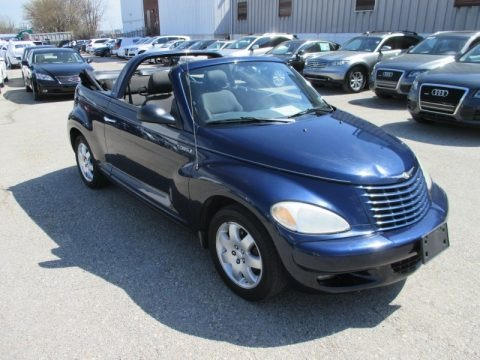 Midnight Blue Pearl 2005 Chrysler PT Cruiser Touring Turbo Convertible