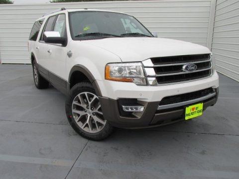 White Platinum Metallic Tri-Coat 2015 Ford Expedition EL King Ranch