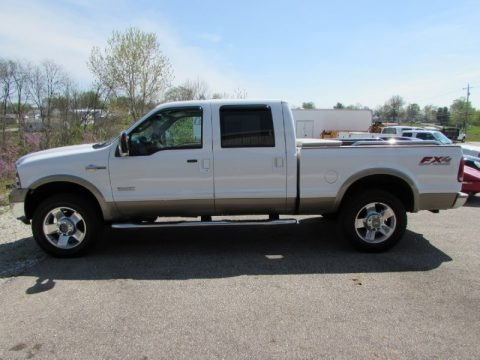 Oxford White Clearcoat 2007 Ford F250 Super Duty King Ranch Crew Cab 4x4