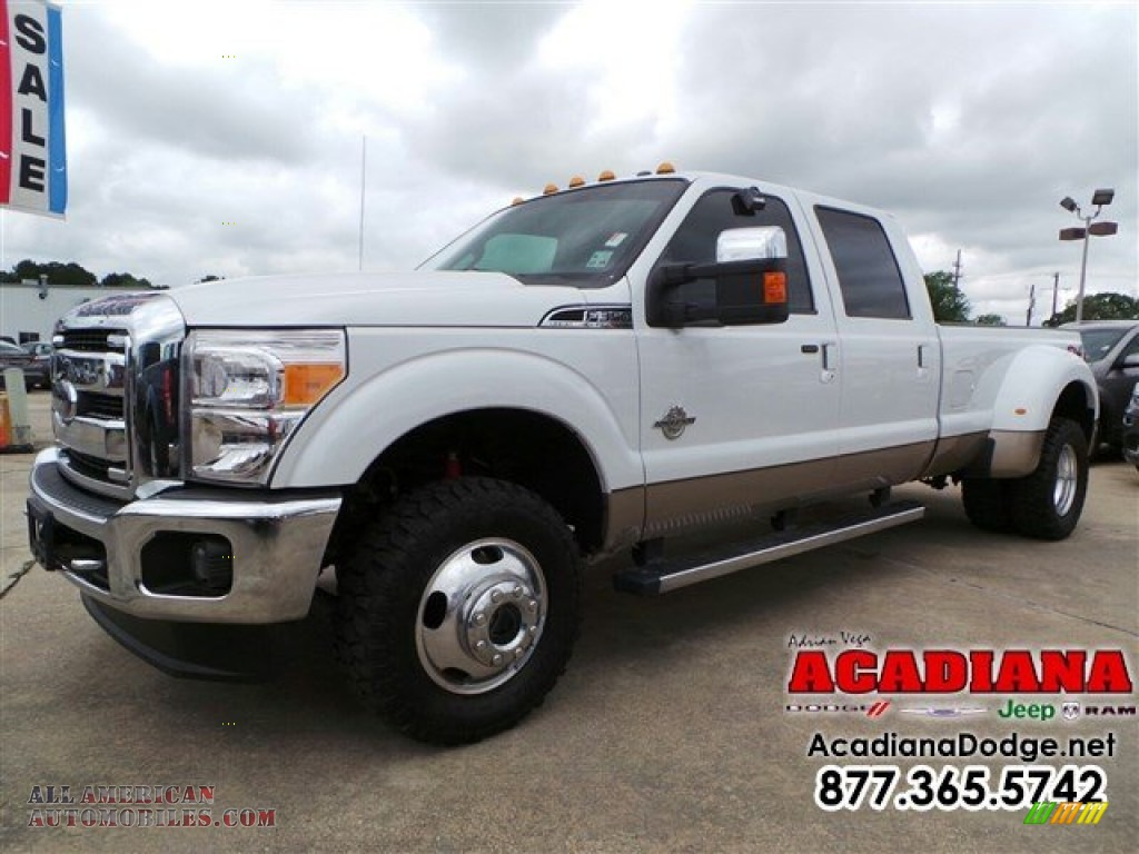 2012 ford f350 super duty lariat crew cab 4x4 dually in oxford white d04355 all american. Black Bedroom Furniture Sets. Home Design Ideas