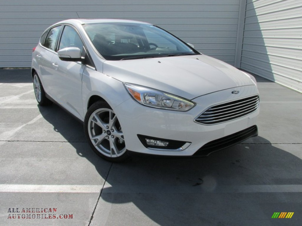 2015 ford focus titanium hatchback in white platinum 239076 all american automobiles buy. Black Bedroom Furniture Sets. Home Design Ideas