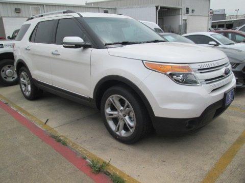 White Platinum 2015 Ford Explorer Limited