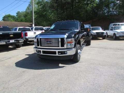 Black Clearcoat 2009 Ford F350 Super Duty Lariat Crew Cab 4x4 Dually