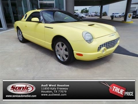 Inspiration Yellow 2002 Ford Thunderbird Deluxe Roadster