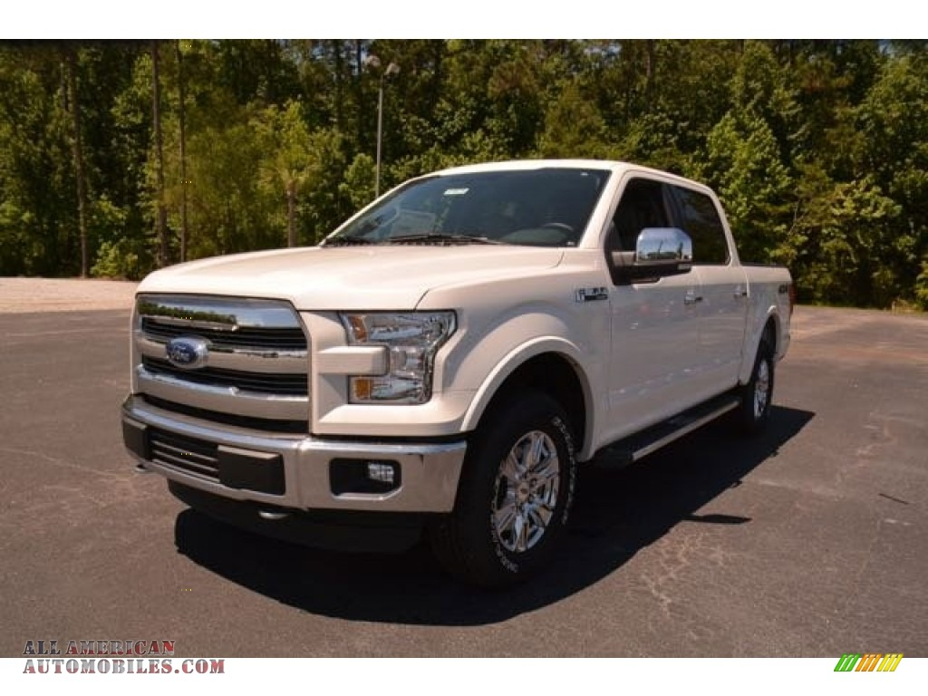 2015 ford f150 lariat supercrew 4x4 in white platinum tricoat a95608 all american. Black Bedroom Furniture Sets. Home Design Ideas