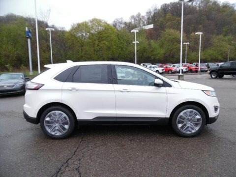 White Platinum Metallic 2015 Ford Edge Titanium AWD