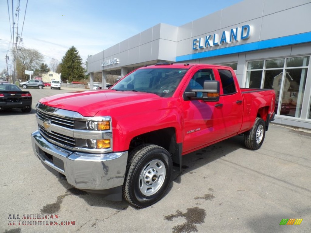 2015 chevrolet silverado 2500hd wt double cab 4x4 in victory red 533158 all american. Black Bedroom Furniture Sets. Home Design Ideas