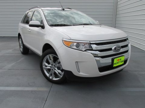 White Platinum 2014 Ford Edge Limited