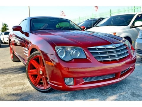 Blaze Red Crystal Pearlcoat 2005 Chrysler Crossfire Limited Coupe