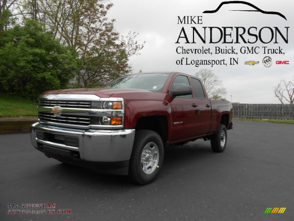 2015 chevrolet silverado 2500hd wt double cab 4x4 in deep ruby metallic 534503 all american. Black Bedroom Furniture Sets. Home Design Ideas