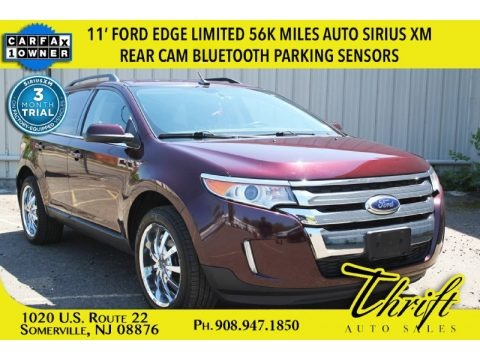 Bordeaux Reserve Red Metallic 2011 Ford Edge Limited AWD