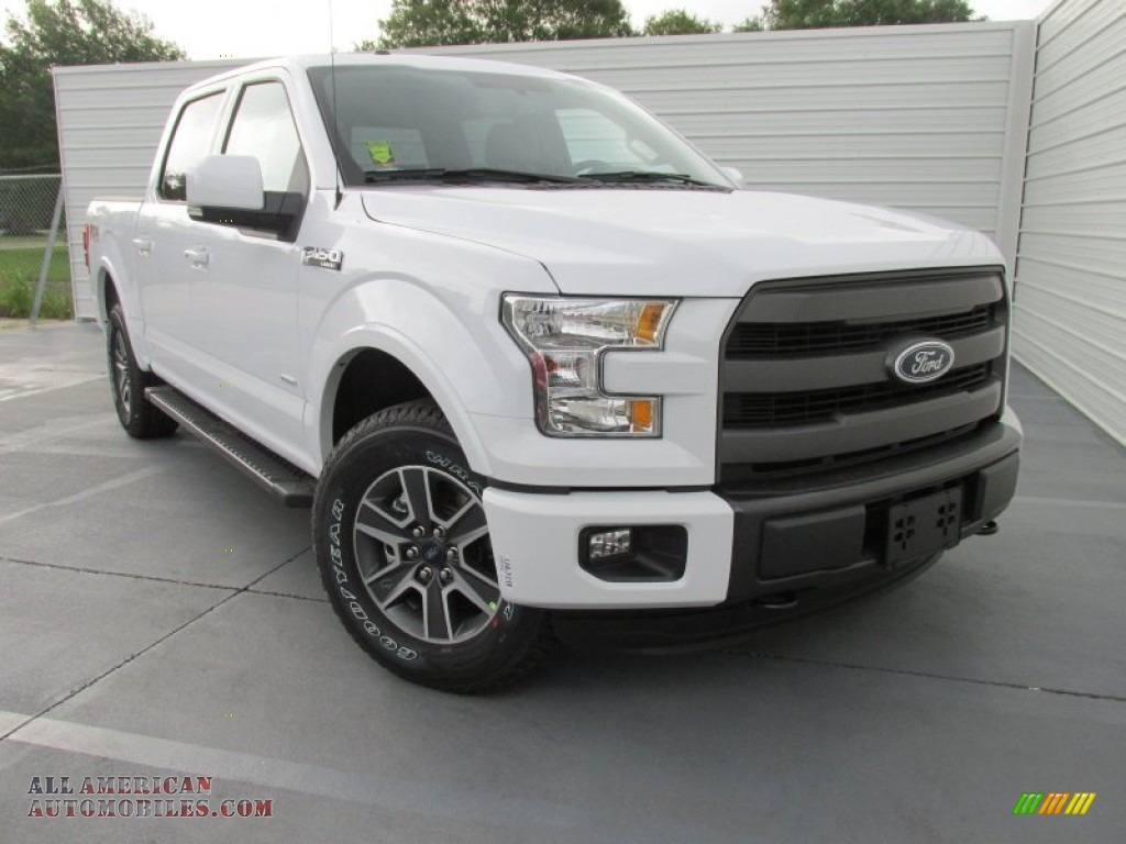 2015 ford f150 lariat supercrew 4x4 in oxford white d41815 all american automobiles buy. Black Bedroom Furniture Sets. Home Design Ideas