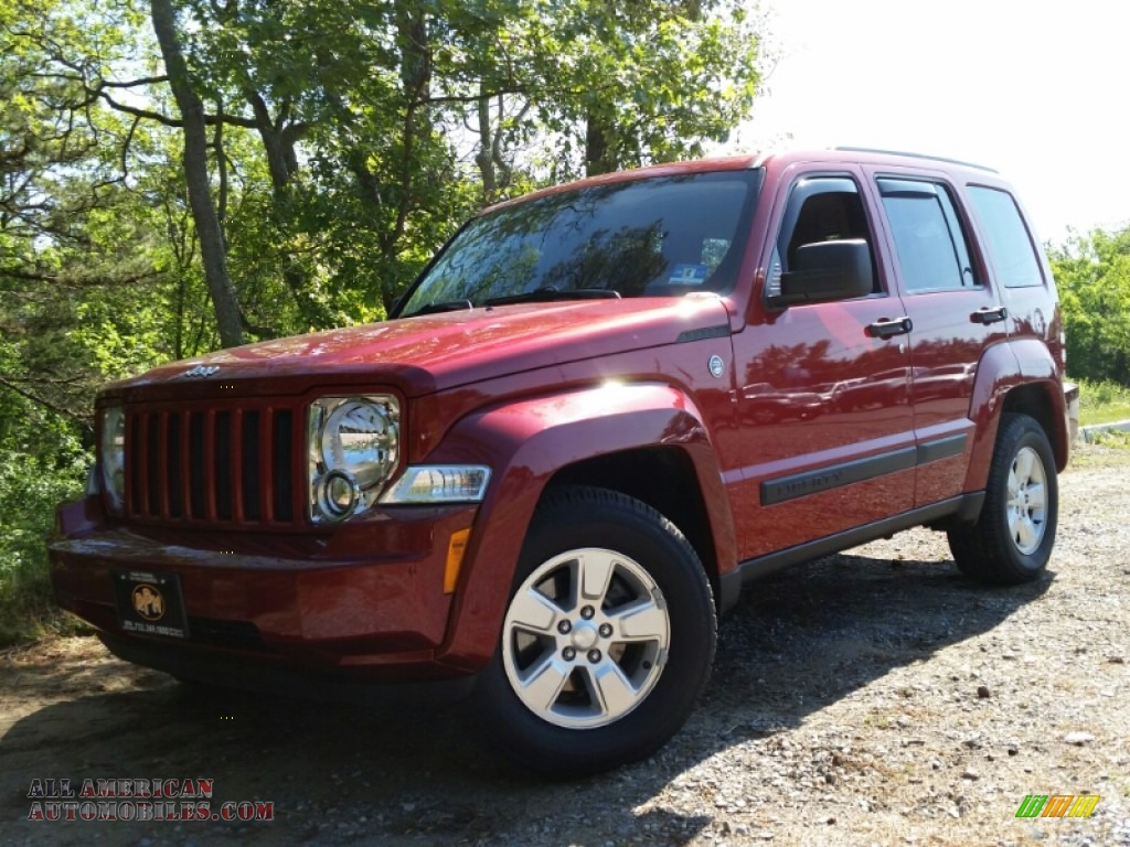 2010 Jeep Liberty Sport 4x4 in Inferno Red Crystal Pearl ...