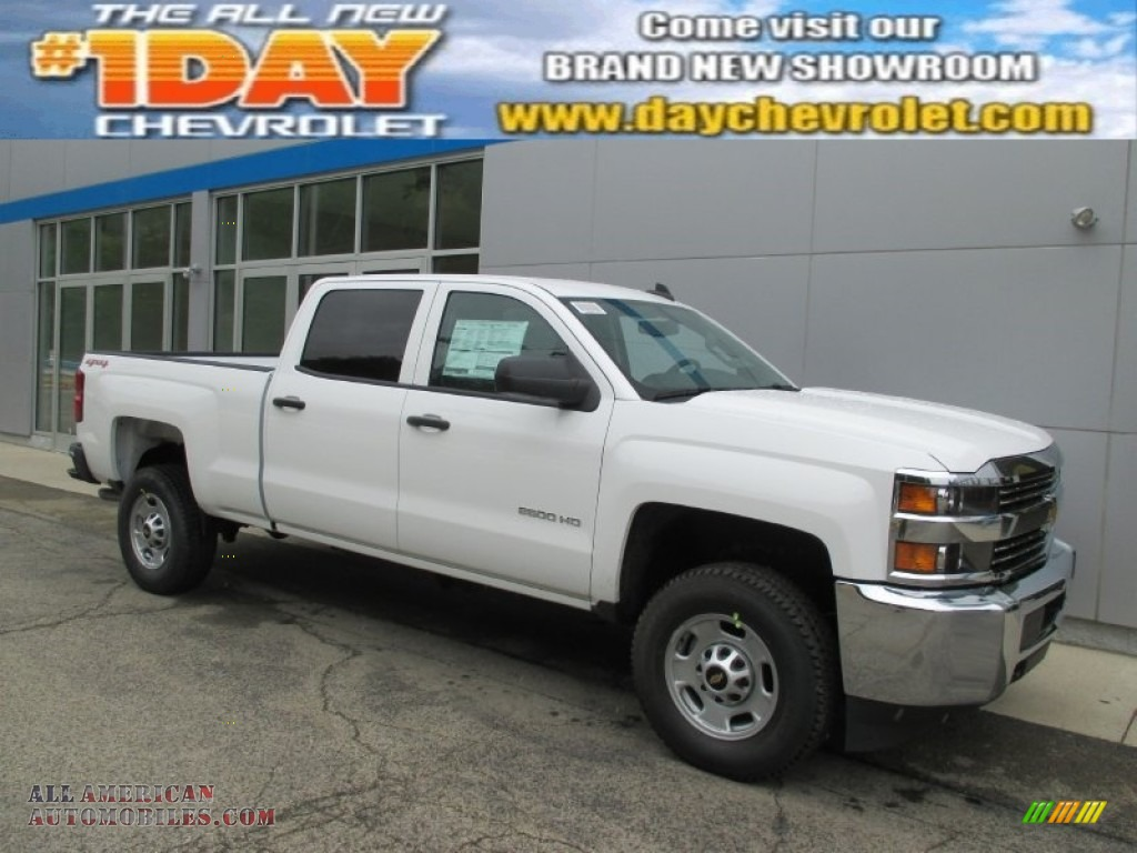 2015 chevrolet silverado 2500hd wt crew cab 4x4 in summit white 623236 all american. Black Bedroom Furniture Sets. Home Design Ideas
