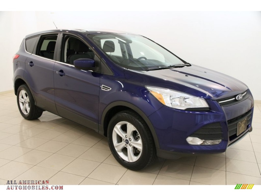 2014 ford escape se 1 6l ecoboost 4wd in deep impact blue b58309 all american automobiles. Black Bedroom Furniture Sets. Home Design Ideas