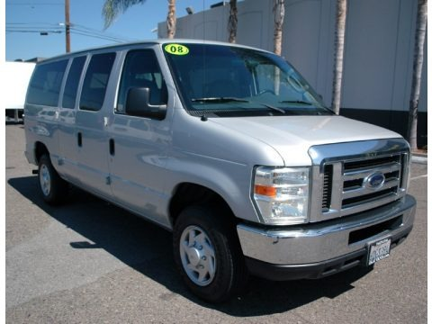 Silver Metallic 2008 Ford E Series Van E350 Super Duty XLT Passenger