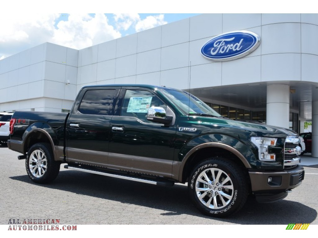 2015 ford f150 lariat supercrew 4x4 in green gem metallic b45788 all american automobiles. Black Bedroom Furniture Sets. Home Design Ideas