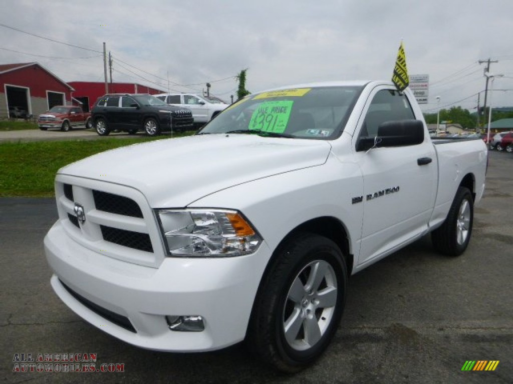 2012 dodge ram 1500 st regular cab 4x4 in bright white 280299 all american automobiles buy. Black Bedroom Furniture Sets. Home Design Ideas