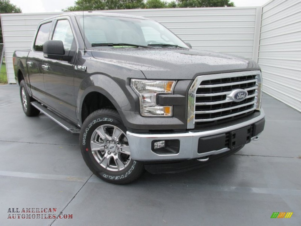 2015 F150 XLT SuperCrew 4x4 - Magnetic Metallic / Medium Earth Gray ...