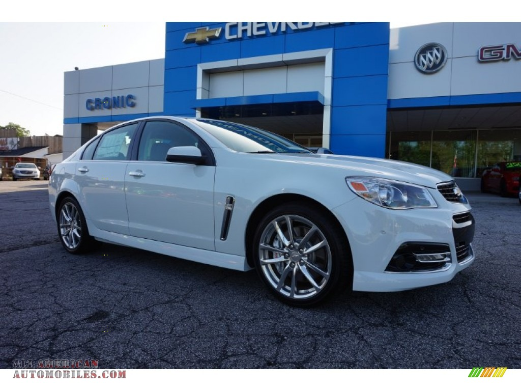 2015 chevrolet ss sedan in heron white 115272 all american automobiles buy american cars. Black Bedroom Furniture Sets. Home Design Ideas