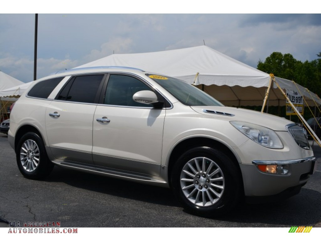 2009 buick enclave cxl in white diamond tricoat 177827 all american automobiles buy. Black Bedroom Furniture Sets. Home Design Ideas