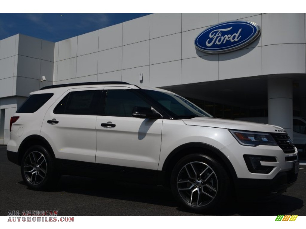 2016 ford explorer sport 4wd in white platinum metallic tri coat a02839 all american. Black Bedroom Furniture Sets. Home Design Ideas