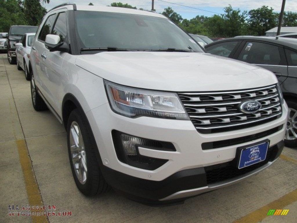 2016 ford explorer limited in white platinum metallic tri coat a09655 all american. Black Bedroom Furniture Sets. Home Design Ideas