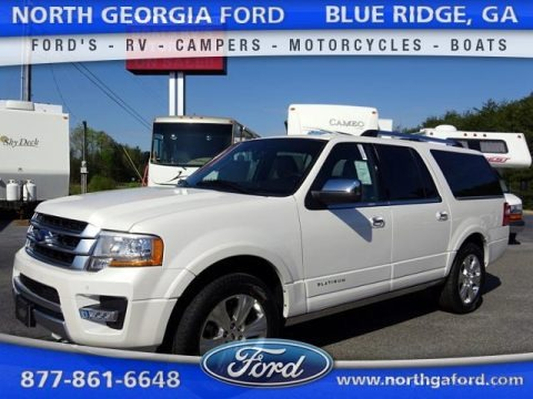 White Platinum Metallic Tri-Coat 2015 Ford Expedition EL Platinum 4x4