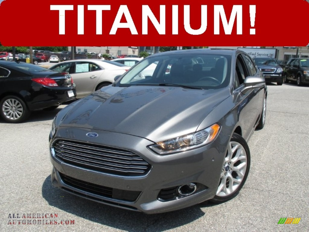2013 ford fusion titanium in sterling gray metallic 383114 all american automobiles buy. Black Bedroom Furniture Sets. Home Design Ideas