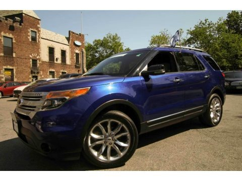 Deep Impact Blue Metallic 2013 Ford Explorer XLT 4WD