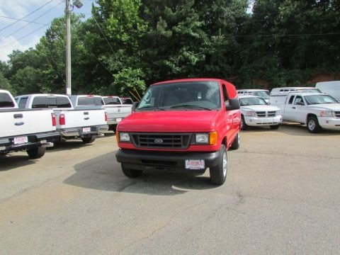Vermillion Red 2006 Ford E Series Van E250 Commercial