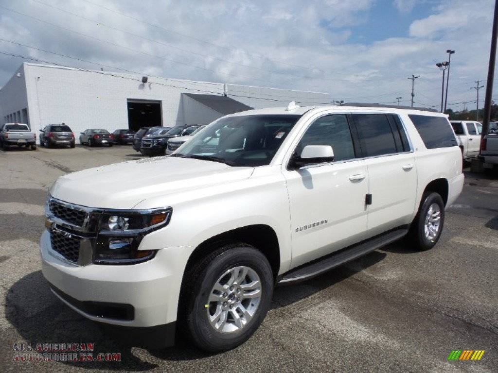2015 chevrolet suburban lt 4wd in white diamond tricoat 726744 all american automobiles. Black Bedroom Furniture Sets. Home Design Ideas