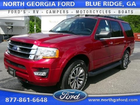 Ruby Red Metallic 2015 Ford Expedition XLT 4x4