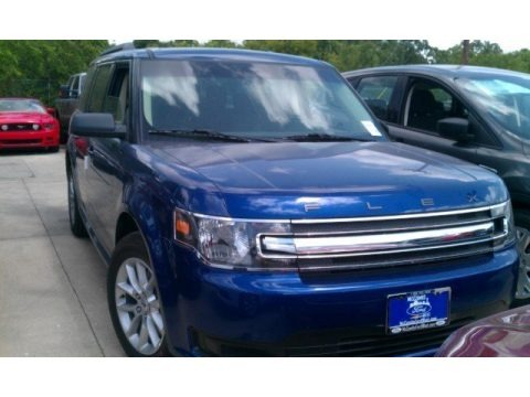Deep Impact Blue Metallic 2015 Ford Flex SE