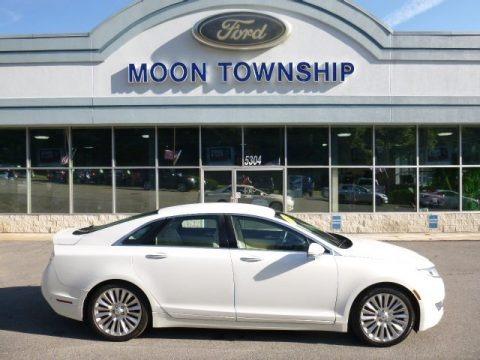 White Platinum 2013 Lincoln MKZ 3.7L V6 FWD