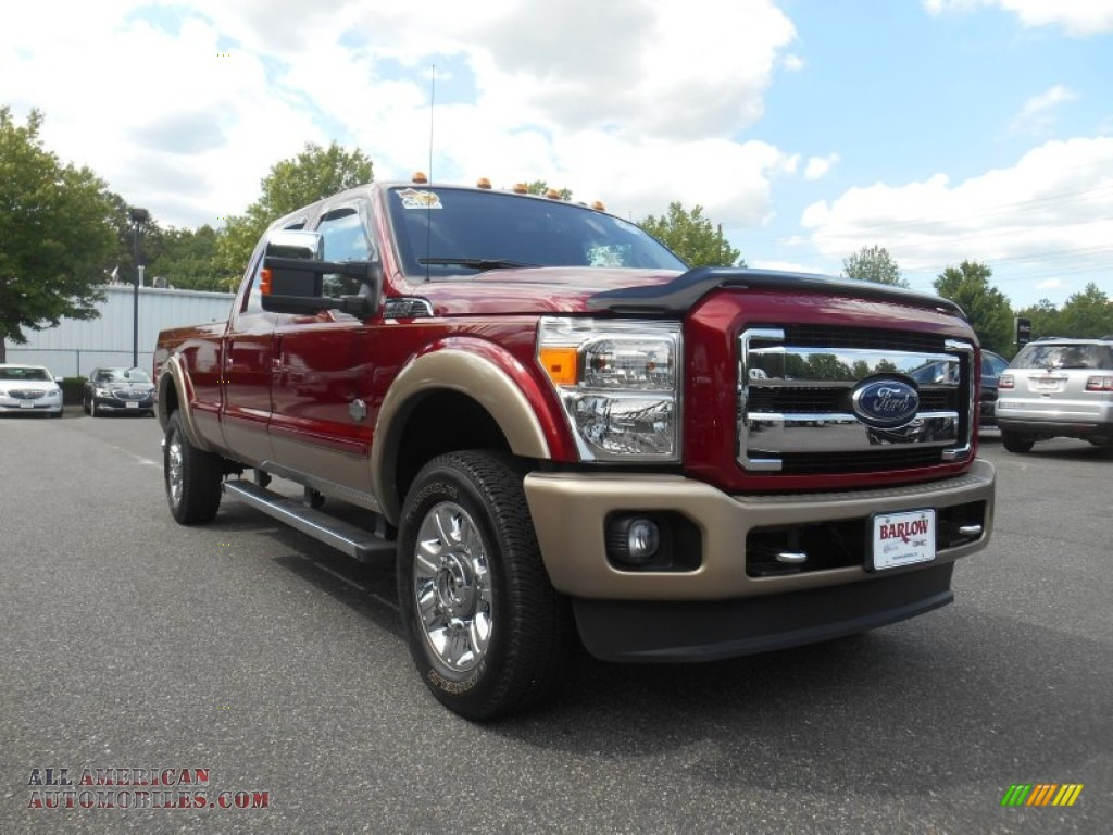 2014 ford f350 super duty king ranch crew cab 4x4 in vermillion red a01503 all american. Black Bedroom Furniture Sets. Home Design Ideas