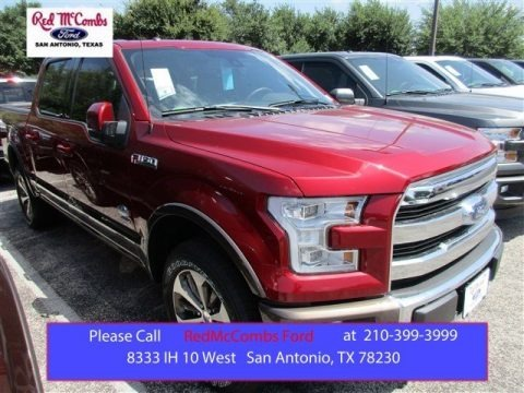 Ruby Red Metallic 2015 Ford F150 King Ranch SuperCrew 4x4
