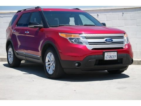 Red Candy Metallic 2012 Ford Explorer XLT EcoBoost