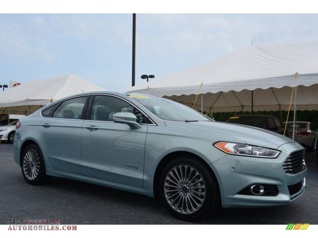 2014 ford fusion hybrid titanium in ice storm 126162 all american automobiles buy american. Black Bedroom Furniture Sets. Home Design Ideas