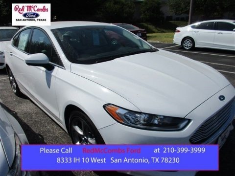 Oxford White 2016 Ford Fusion S