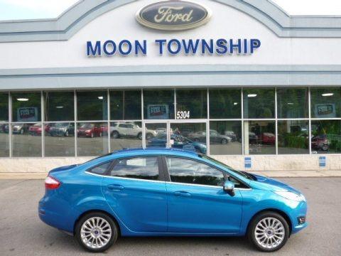 Blue Candy Metallic 2015 Ford Fiesta Titanium Sedan